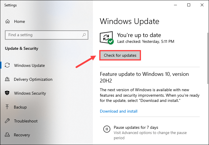 how to download and install Windows updates