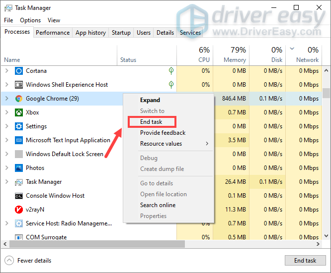 disable unnecessary programs to free up space