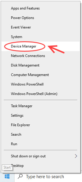 open device manager