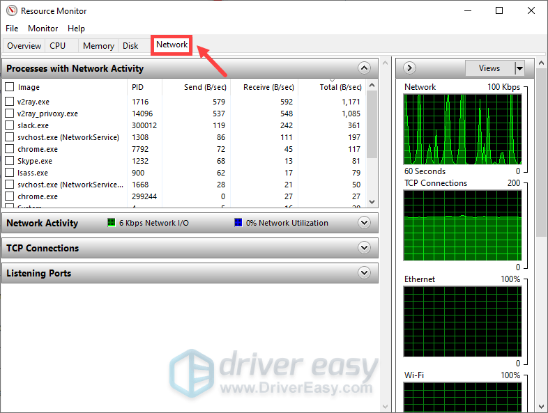 how to open Resource Monitor