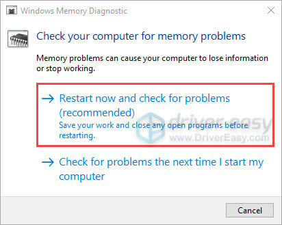 Check your computer for memory problems
