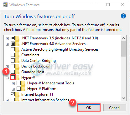 Disable the Hyper-V feature
