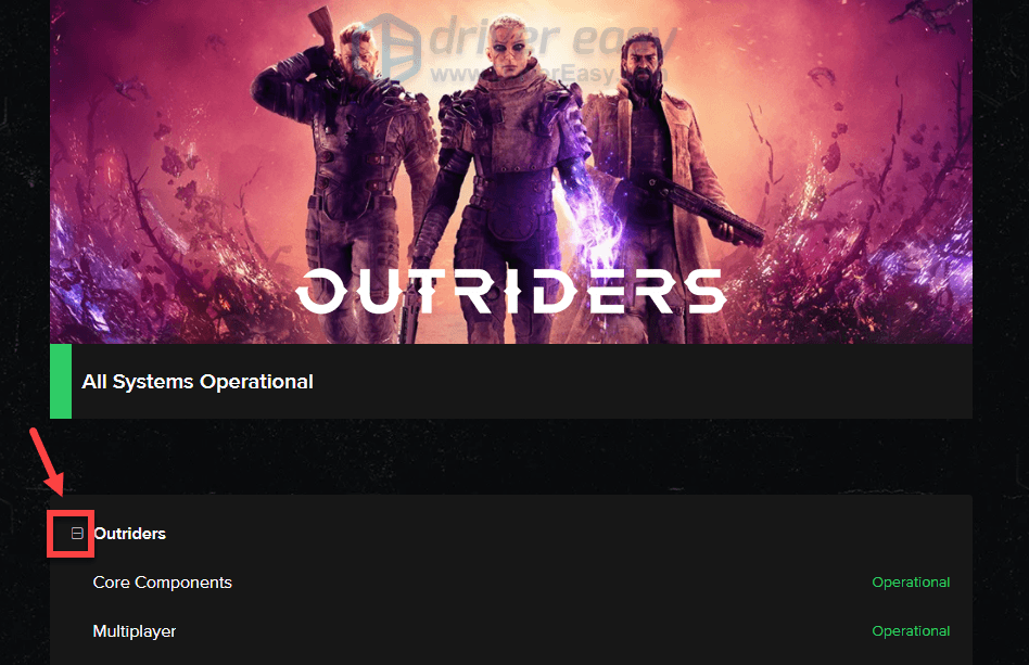 check Outriders servers status