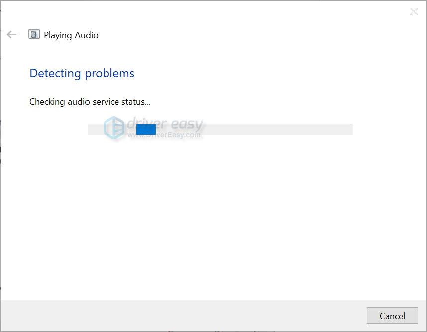 Run Windows audio troubleshooter 2