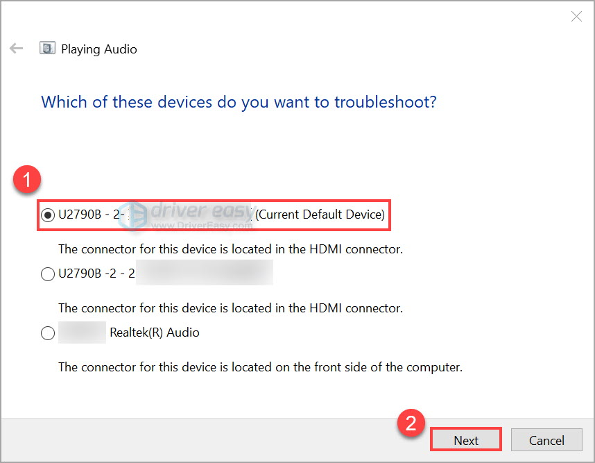 Run Windows audio troubleshooter 3