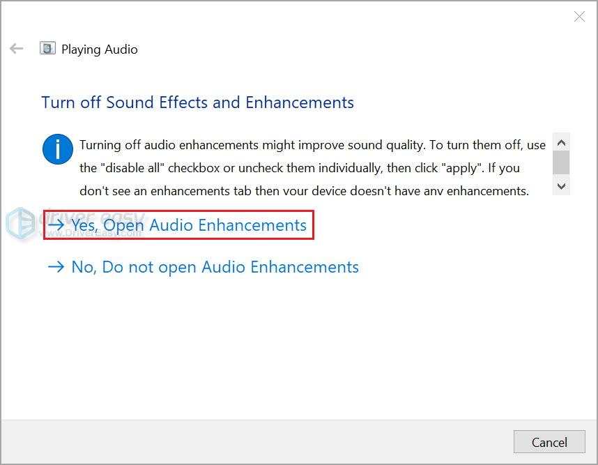 Run Windows audio troubleshooter 4