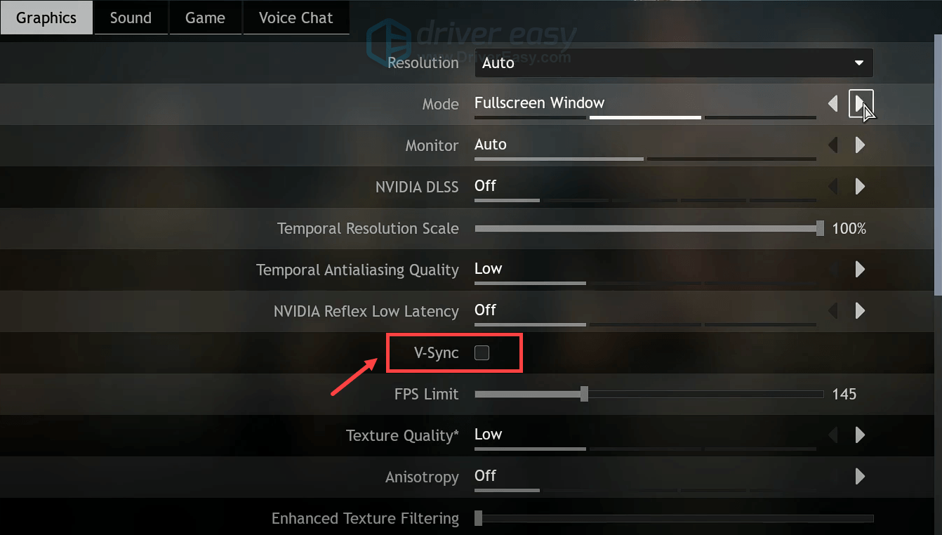 disable vsync Assassin's Creed Odyssey