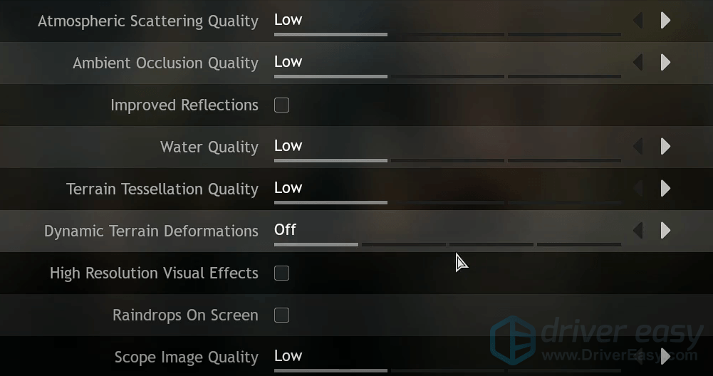 lower in-game settings Assassin's Creed Odyssey