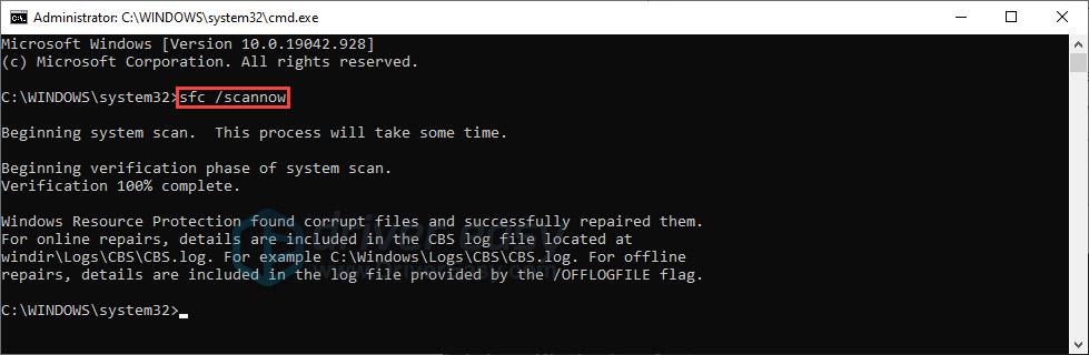run system file checker
