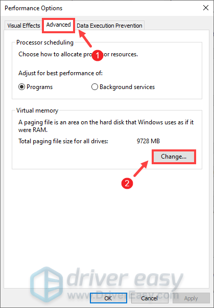 fix Red Dead Redemption 2 ERR_MEM_VIRTUAL_OUT_OF_MEMORY how to increase the page file size