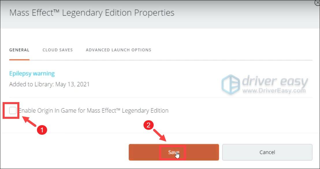 disable overlay Mass Effect Overlay Origin