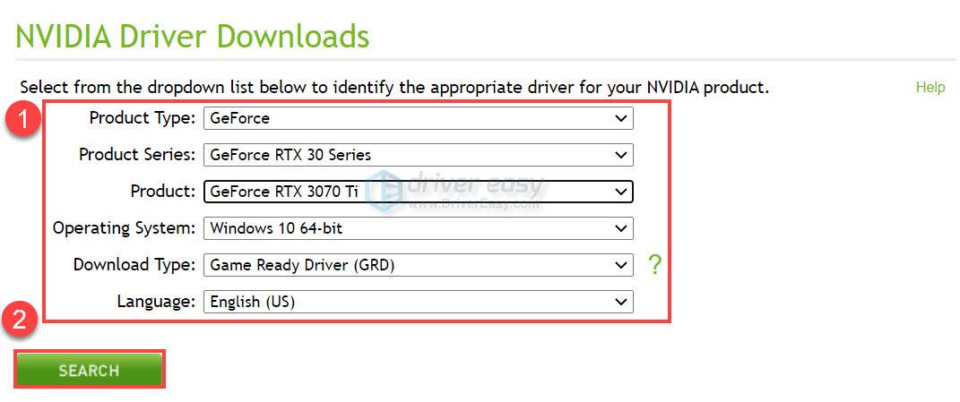 Download RTX 3070 Ti driver manually