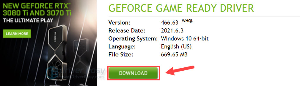 Download & Update NVIDIA GeForce RTX 3080 Ti driver manually 1