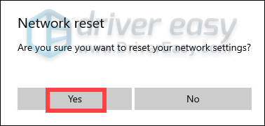 how to perform a network reset