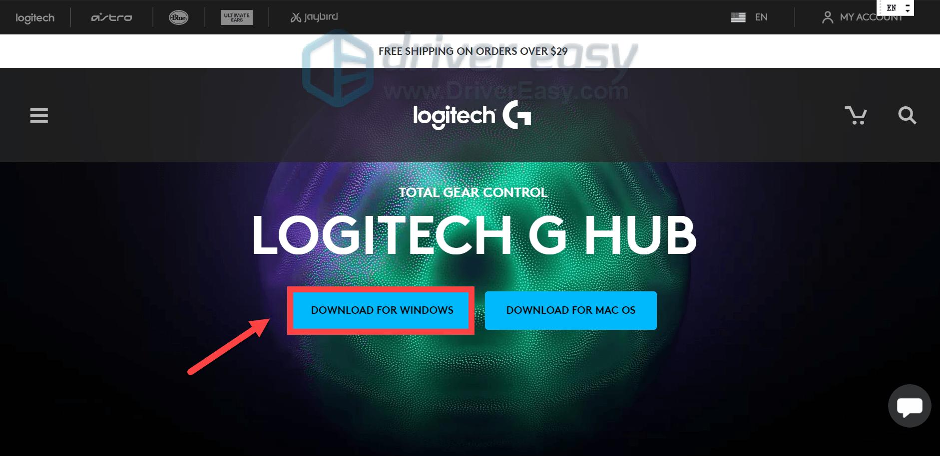 how to reinstall Logitech G HUB