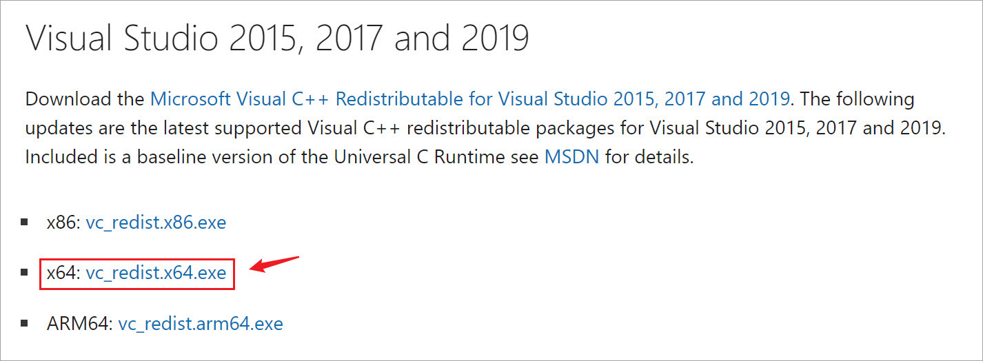 download the latest Visual C++ files
