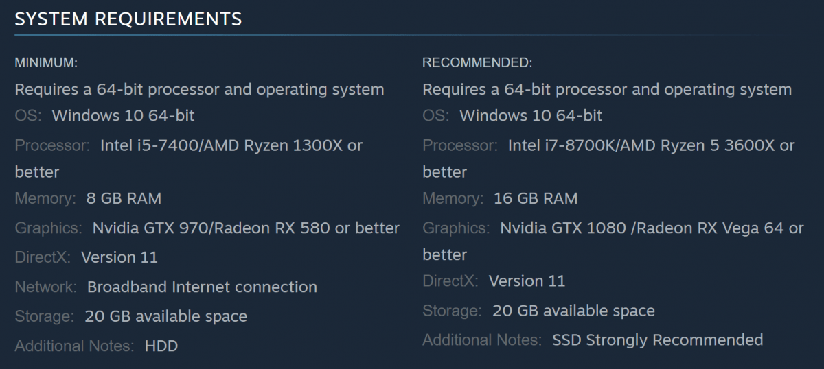 Bloodhunt system requirements