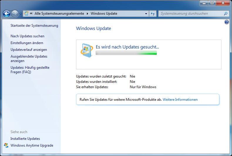 Windows 7 Sucht Ewig Nach Updates 2021